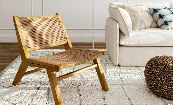 rattan wood chair