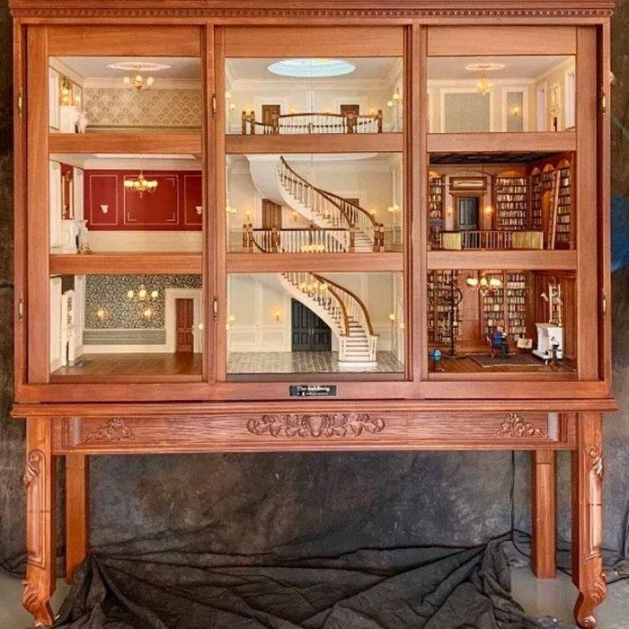 elaborate dollhouse architectural masterpiece